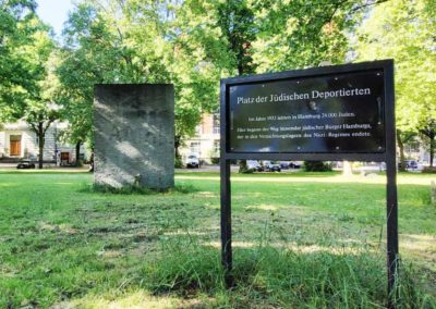 Walking Tour Hamburg - Square of the Deported Jews in Rotherbaum