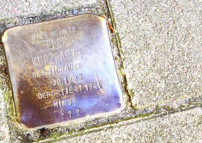 Walking Tour Hamburg - Memorial Cobblestone in Hamburg's Grindelviertel