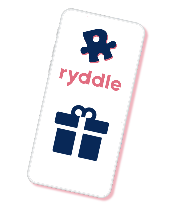 Smartphone with ryddle as a gift