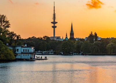 Stadtrallye Hamburg - Blick über die Außenalster